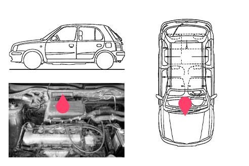 Ubicacion bastidor Nissan micra 2gen