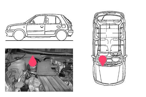 Ubicacion bastidor Nissan micra 4gen
