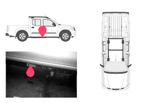 Ubicacion bastidor Nissan navara 3gen