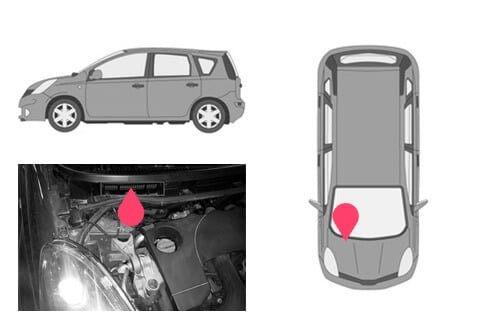 Ubicacion bastidor Nissan note 1gen