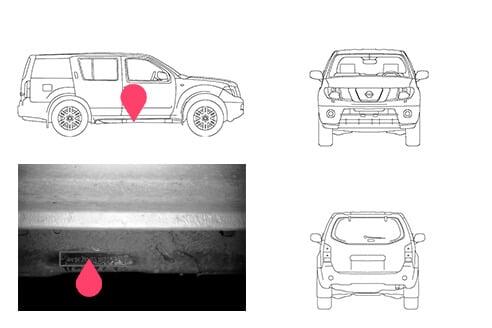Ubicacion bastidor Nissan pathfinder 3gen