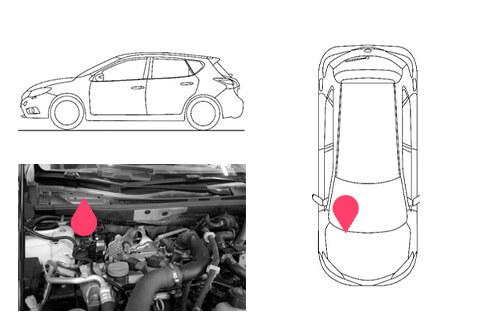 Ubicacion bastidor Nissan pulsar