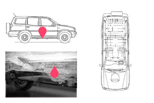 Ubicacion bastidor Nissan terrano 2
