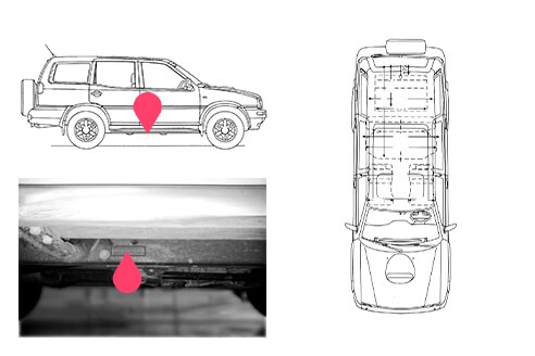 Ubicacion bastidor Nissan terrano