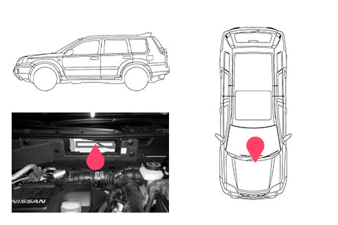 Ubicacion bastidor Nissan xtrail 3gen