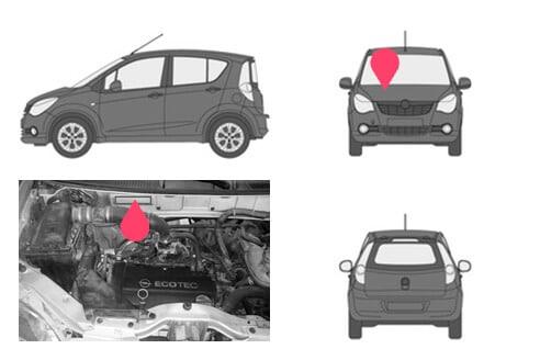 Ubicacion bastidor Opel agila 1gen
