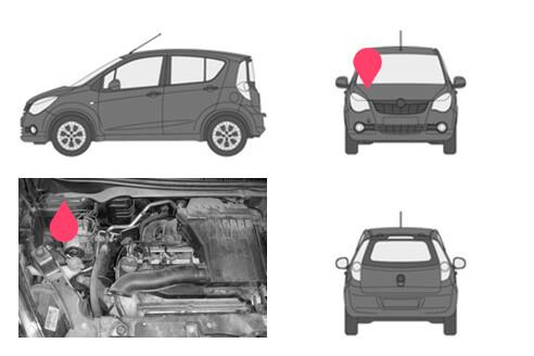 Ubicacion bastidor Opel agila 2gen