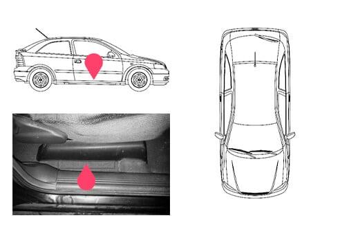 Ubicacion bastidor Opel astra 1gen
