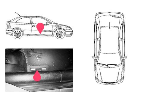 Ubicacion bastidor Opel astra 2gen