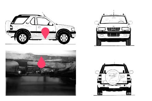 Ubicacion bastidor Opel frontera 2gen