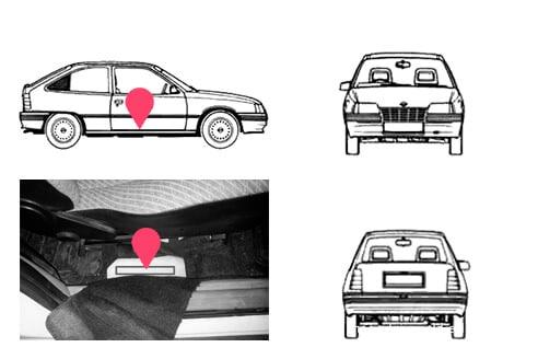 Ubicacion bastidor Opel kadett