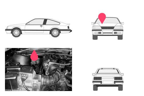 Ubicacion bastidor Opel monza