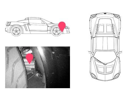 Ubicacion bastidor Opel speedster
